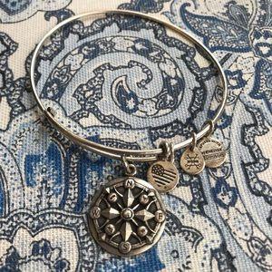 Silver Compass Alex & Ani Bangle